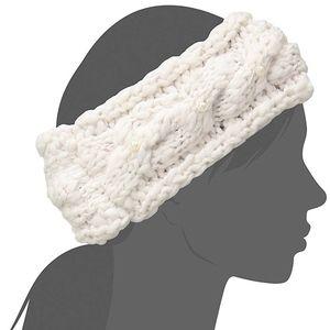 4/$25 Betsey Johnson Ivory Pearl Knit Headband NEW